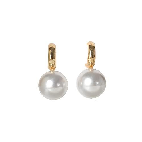 Pendientes de perlas de moda contratados geometría del metal clases de gota exagerados pendientes de gota para la mujer
