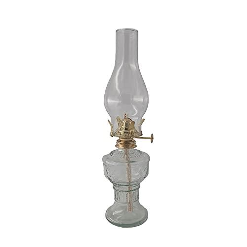 amanigo Lámpara de aceite de cristal, 30 cm de altura, lámpara de...