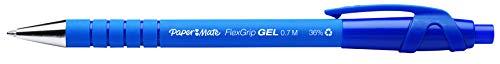 Paper Mate FlexGrip - Bolígrafo de gel (12 unidades), color azul