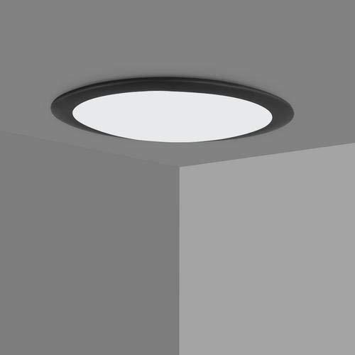 Sararoom LED Lampada da Soffitto Plafoniera LED Moderna Bordo Nero Ultraslim 6000K Luce Bianco fredda Per Camera Cucina Bagno Corridoio (18w Bianca fredda)