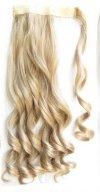 Extensión del cabello 100g peluca mágica del pelo rizado, cola de caballo real del pelo rizado los 8 * 55cm extendidos Pelucas de pelo humano (Color : White gold and gold spacing)