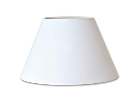 Lampenkap van witte stof, 25 cm diameter. Gemaakt in Spanje.