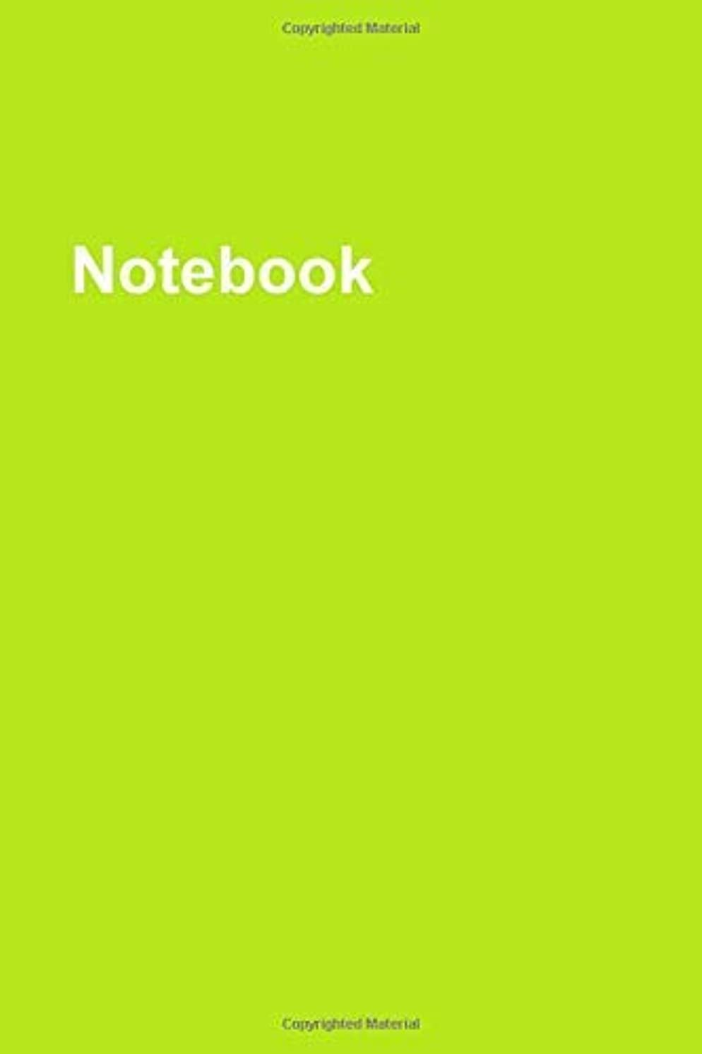 Notebook: Lined 6 x 9 (inches) White Paper Notebook - 104 Pages - Cover: Yellow [並行輸入品]