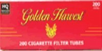 Golden Harvest Cigarette Tubes Full Flavor 100mm  200 Tubes Per Box  10 Boxes  Compare to Premier Full Flavor 100mm Tubes