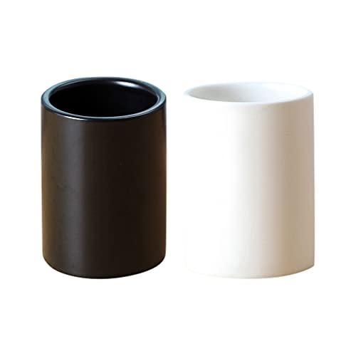 Cabilock 2 Unidades de Tazas de Cerámica para Beber Tazas de Cepillo de Dientes Soporte para Brochas de Maquillaje Organizador para Encimera de Baño Taza para Toallitas de Pasta de Dientes