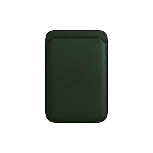 Apple Leather Wallet with MagSafe (for iPhone) - Sequoia Green