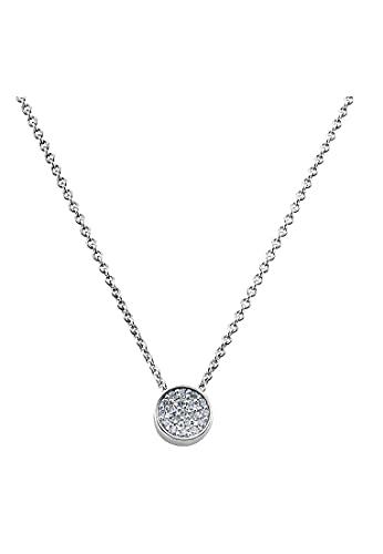 JETTE Damen-Kette 925er Silber rhodiniert 19 Zirkonia One Size 86508621