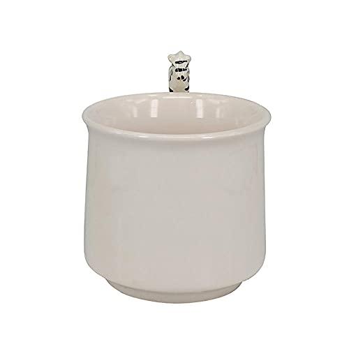 Taza de café de cerámica fuerte y duradera: taza de cerámica animal con mango a mano súper linda, taza de oficina de regalo de mano de promoción de taza 3D de color hecha a mano tridimensional pe