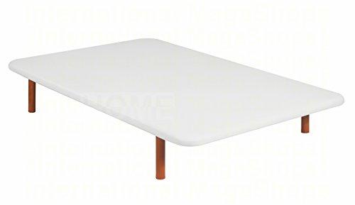 BASE TAPIZADA PIKOLIN DIVANLIN 3D TRANSPIRABLE -ENVÍO Y MONTAJE GRATUITO- DISPONIBLE EN TODAS LAS MEDIDAS (90x190, BLANCO)