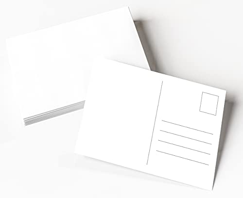 Clever Pool, Blanko Postkarten zum Selbstgestalten, Postkarte aus weißem 350g Karton, Postkarten zum Bedrucken, 50 x DIN A6