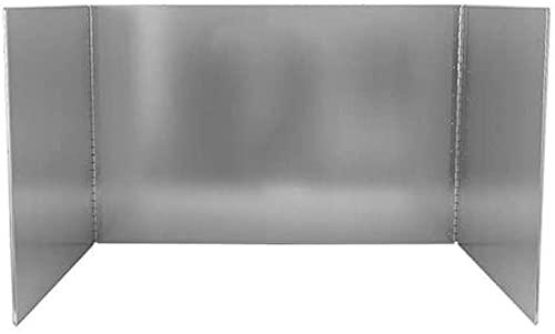 Protector Contra Salpicaduras Protector Salpicaduras Protector anti-salpicaduras de cocina Barrera de aceite Deflector de acero inoxidable resistente a altas temperaturas Protector antisalpicaduras an