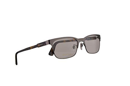 Gucci GG0494OJ Brillen 56-18-150 Havana Silberne Mit Demonstrationsgläsern 002 GG 0494OJ