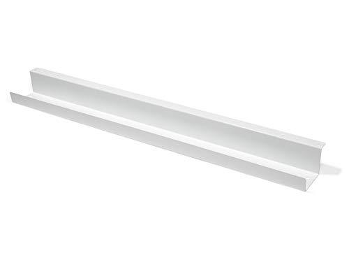 Modulor Kabelkanal, Kabelführung für den Schreibtisch (7 x 9 x 102,5 cm), Kabelhalterung inklusive Schrauben, weiß