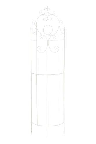 CLP Eisen-Rankgitter Lavendel im Landhausstil I Rankzaun mit stilvollen Verzierungen I erhältlich, Farbe:weiß