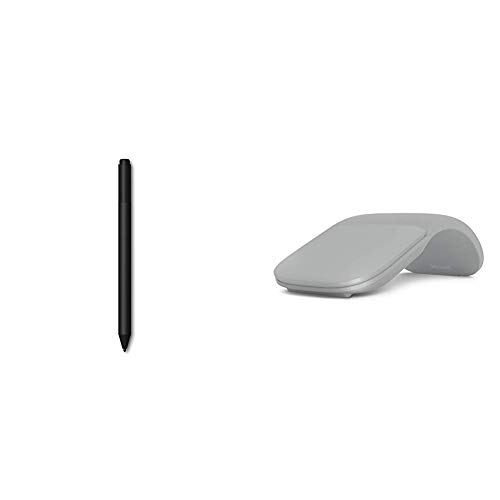 Microsoft Surface Pen, schwarz + Surface Arc Maus, silber