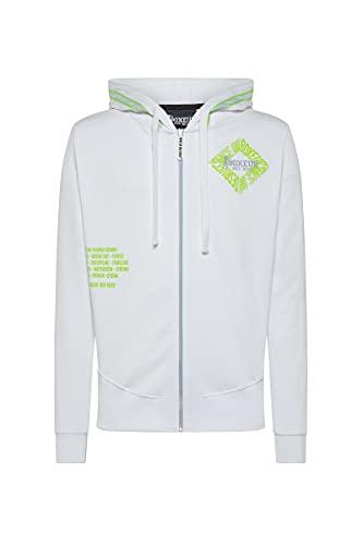 BOXEUR DES RUES - Hoodie Sweatshirt with Zip, Uomo, White, XL