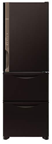 日立 冷蔵庫 375L 3ドア 右開き R-K38JV TD 幅60.0cm 奥行66.5cm まんなか野菜タイプ うるおいチルド うるおい野菜室 ダークブラウン