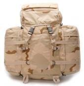 A. Blöchel Grand US Army Montagne Sac à dos 80+20 Litres + 2 Revêtements de camouflage différentes couleurs - 3 Coloris Desert