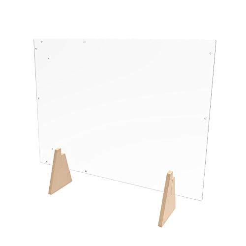 FixtureDisplays Acrlic Plexiglass Shield Sneeze Guard 24x36x7 Landscape or Portrait Tabletop or Ceiling Mount 10064-2D