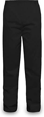 normani Outdoor Sports Regenhose für Damen und Herren wasserdicht 5000 mm für Wandern, Gassi gehen, Angeln oder Fahrad Fahren Farbe Schwarz Größe XL