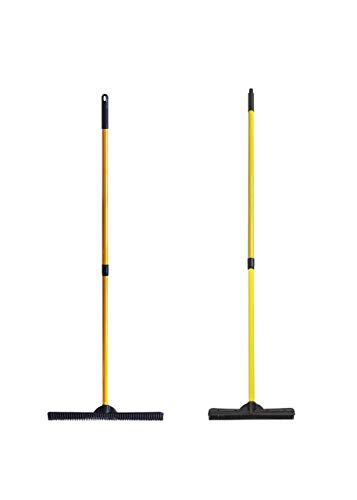 Product Image of the FURemover XL Heavy Duty and Original Indoor/Outdoor Broom Set, Standard and Extra Large, Black and Yellow (Model: 2385A6-AMZ)