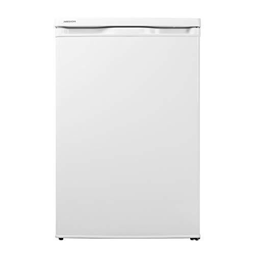 MEDION Kühlschrank (130 Liter, 85cm Höhe, Glasablagen, Gemüseschublade, unterbau-fähig, Freisetehnd, 91 kWh/Jahr, MD 13854) weiß