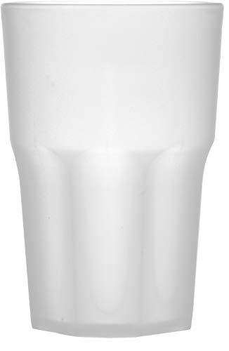 """Garnet Frost Bicchiere Riutilizzabile """"Granity 40 Set da 6 Pezzi – Lavabile in lavastoviglie-40 Bordo/ 33-35 cl a Servizio-Made in Italy, Plastica"""