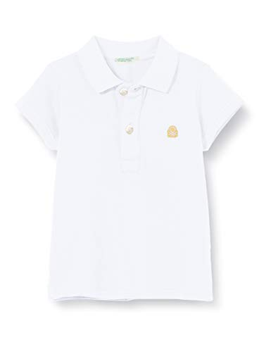 United Colors of Benetton Unisex Baby Maglia Polo M/m Poloshirt, Weiß (Bianco 101), 56 (Herstellergröße: 62)