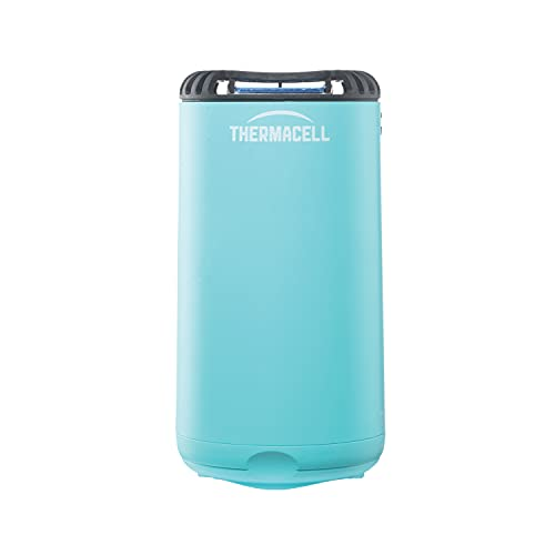 Thermacell Patio Shield Mosquito Repeller, Blue; Highly Effective Mosquito Repellent for Patio; No Candles or Flames, DEET-Free, Scent-Free, Bug Spray Alternative; Includes 12-Hour Refill