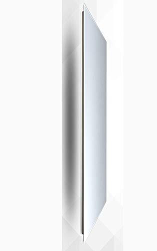 insidehome | Infrarotheizung Glasheizung ELEGANCE Classic H | Glas rahmenlos | ergänzbar mit bis zu 3 Handtuchhaltern | Farbe: weiss | 550 Watt – 130 x 40 x 1,8 cm Bild 2*