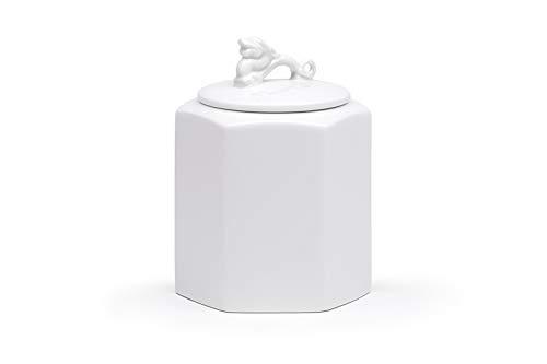 Maia Ming Designs GUARDDRGWHTSM Récipient/Gardien Alimentaires Petit Dragon Blanc