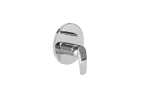 Roca A5A0698C00 Colección Monodin-N, Mezclador Empotrable Baño-Ducha, Inversor Automático, Cromado