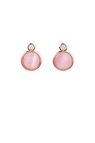 Esprit Ohrringe ESER01071400 Damen Ohrstecker Bold Sterling-Silber 925 Rose rosa
