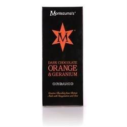 Montezumas Chocolate Org Dark Orange & Geranium Bar 100G by Montezumas Chocolate