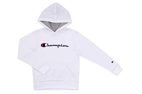 Champion Kinder-Sweatshirt, Youth Heritage, Fleece, zum Überziehen mit Kapuze - Wei� - Medium