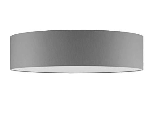 Aktionsprodukt Deckenleuchte Durchmesser 70 cm mit Stoff Lampenschirm Taupe Grau hell dunkel Schiefer Fenstergrau oder viele andere Farben Diffuser Blendschutz