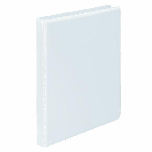 ACCO Brands W87914PP3 Wilson Jones Premium Single-Touch Locking Round Ring View Binder, 1/2 Inch, Customizable, White