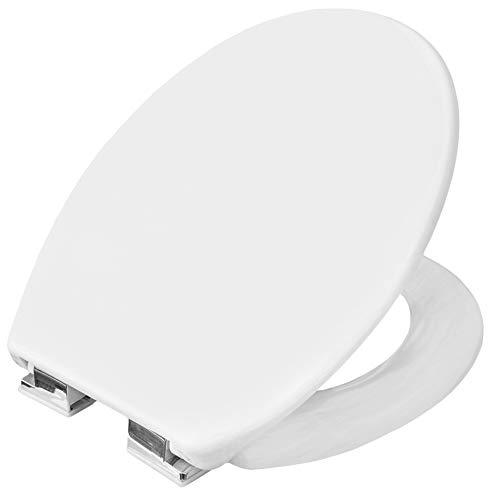Cornat WC-Sitz Tarox - Klassisch weißer Look - Pflegeleichter Duroplast - Absenkautomatik - Schlichtes Design passt in jedes Badezimmer / Toilettensitz / Klodeckel / KSTASC00