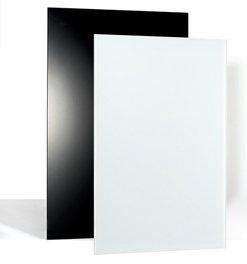 Glasheizung Infrarotheizung, rahmenlos, 600 und 800 Watt - für Wand- und Deckenmontage (600 Watt, Weiß)