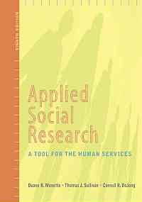 Applied Social Research a Tool for the Human Services