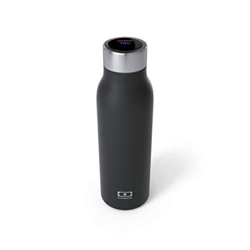 monbento - MB Genius Onyx Bouteille isotherme intelligente noire 50 cl - Gourde inox garde au chaud/froid - affichage de la température