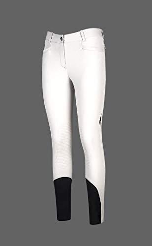 Equiline Pantalon pour femme X-Grip Ash., Bianco (001), 46