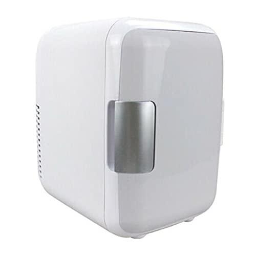 Mini 4L refrigerante y calefacción Refrigerador Maquillaje Cosmético Frigor de Doble Uso para el hogar Car Coche refrigeradores (Color Name : Pale Pinkish Gray)