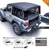 GPCA Cargo Cover LITE Compatible with Jeep Wrangler JL 2DR Sport Sahara Freedom Rubicon Unlimited 2018-2021 Model (JL 2DR Hardtop)