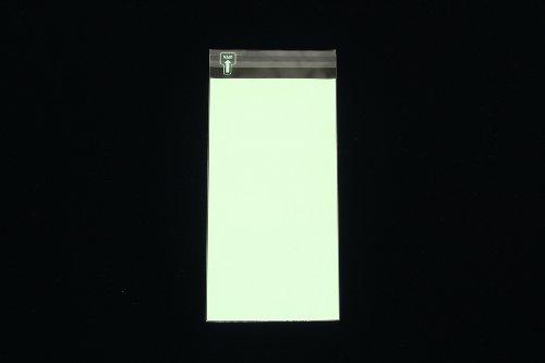 印刷透明封筒 長3 【100,000枚】 OPP 50μ(0.05mm) 表:グリーンベタ 切手/筆記可 静電気防止処理テープ付き 折線付き 横120×縦235+フタ30mm印刷可