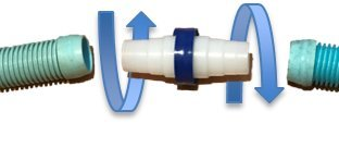 OAI Gator Universal Swivel - Pool Hose Connector to Prevent Hose Twisting - Move Freely on The Pool vacWithout Twisting.