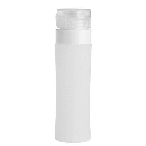 dontdo Reiseflaschen, tragbar, nachfüllbar, Silikonbehälter für Shampoo, Conditioner, Lotion, Weiß, 80 ml