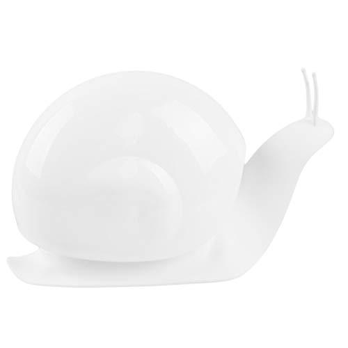 Flybloom Karikatur Schnecke Form Flüssigseife Spender Aufbewahrungskiste drücken Automatische Seifenspender, Weiß