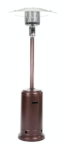 Home Essential - Calentador de gas para exteriores con cubierta impermeable de 212 cm de alto