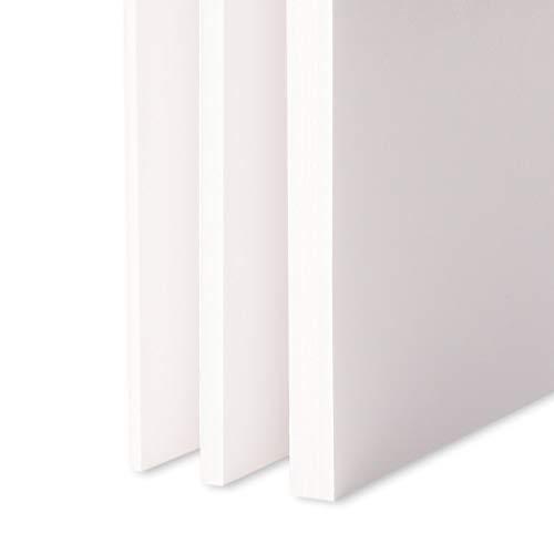 Leichtschaumplatte Weiss - 70x100cm - 1 Stück - 10mm stark - alle Größen - alle Stärken
